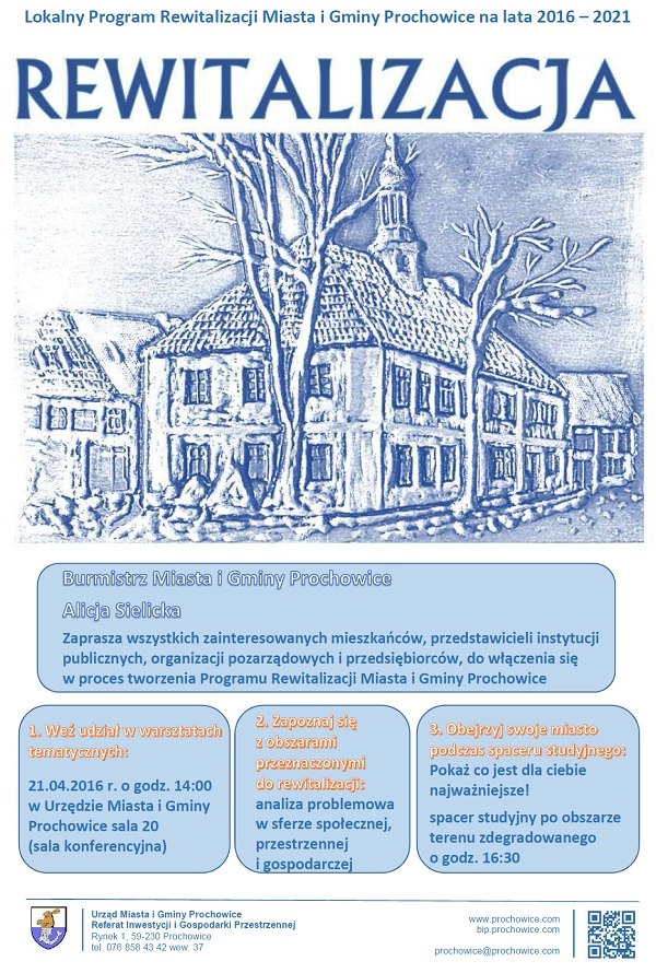 Lokalny Progmra Rewitalizacji Miasta i Gminy Prochowice