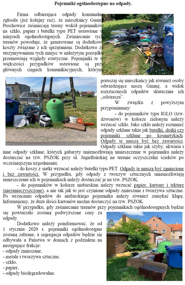 Ogólnodostępne pojemniki na odpady