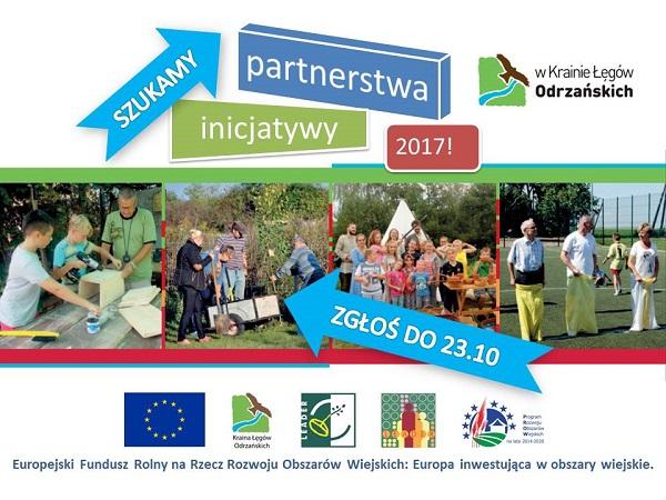 Plakat promujący inicjatywy partnerstwa w Krainie Łęgów Odrzańskich