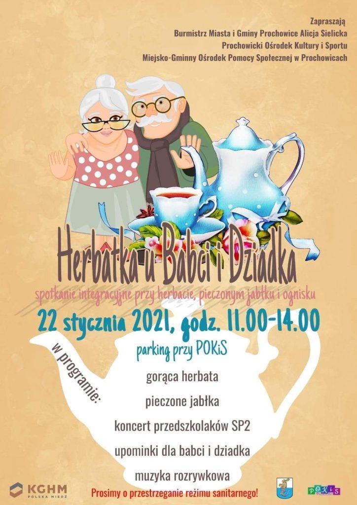 Plakat - Herbatkę u Babci i Dziadka
