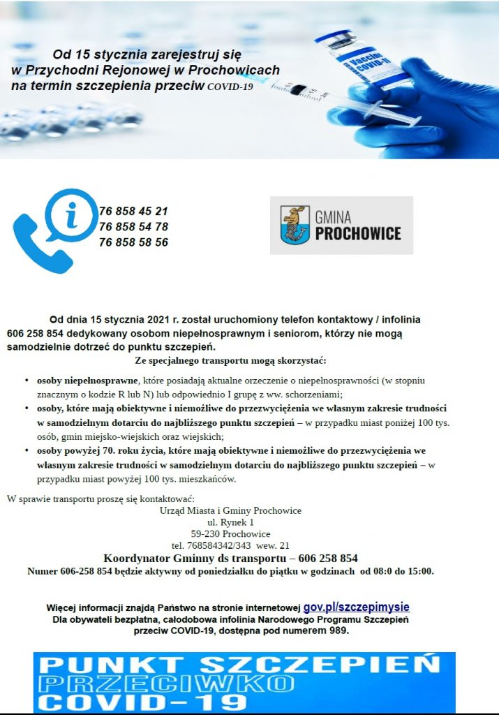 Plakat informacyjny o szczepieniach COVID