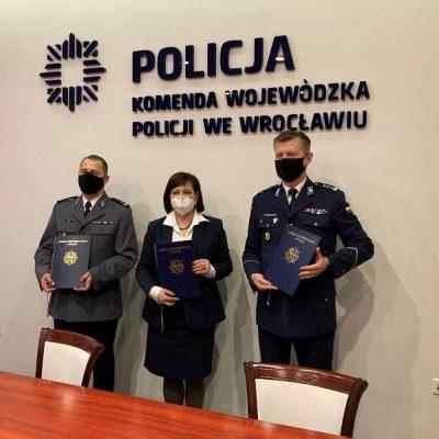 Podpisanie Listu intencyjnego pomiędzy Gminą Prochowice a Komendą Wojewódzką Policji we Wrocławiu