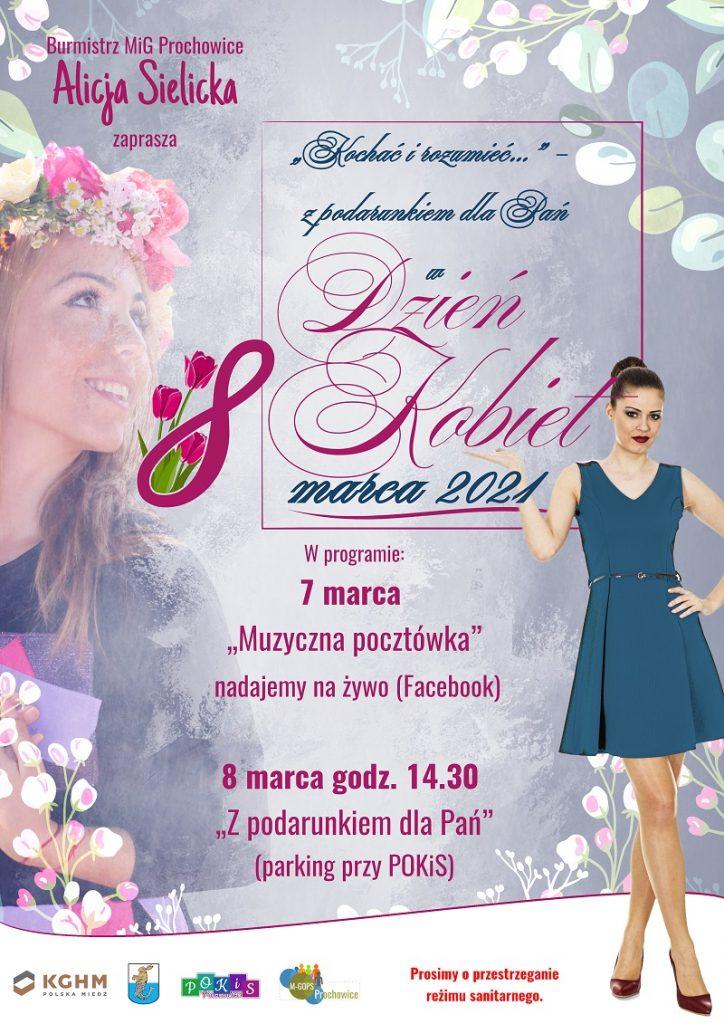 Dzień Kobiet w Prochowicack - plakat informacyjny