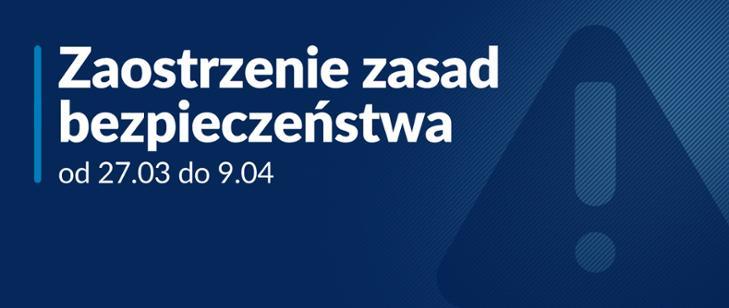 Zaostrzenie zasad bezpieczeństwa od 27.03 do 09.04