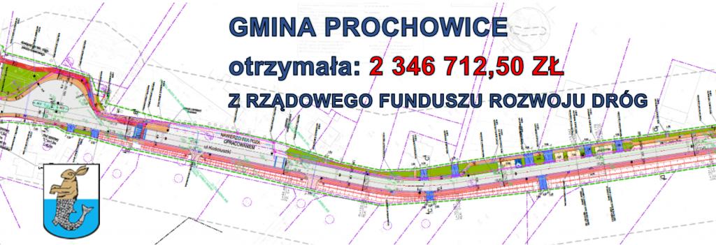 Gmina Prochowice otrzymała: 2 346 712,50 zł z Rządowego Funduszu Rozwoju Dróg