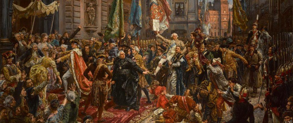 "obraz -  Jana Matejki ""Konstytucja 3 maja 1791 roku"""