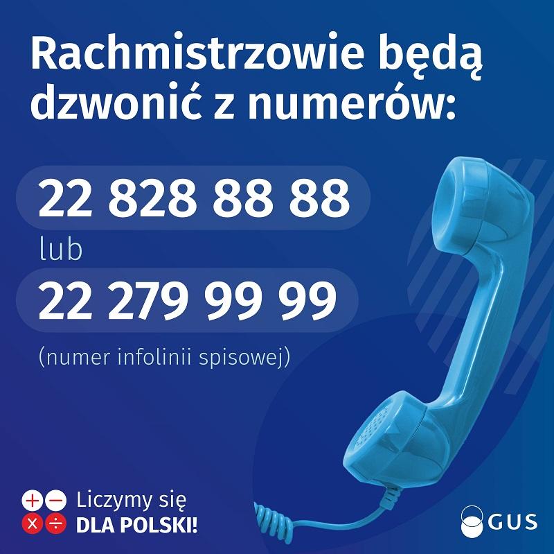 Numery telefonów, z których będą dzwonić Rachmistrzowie