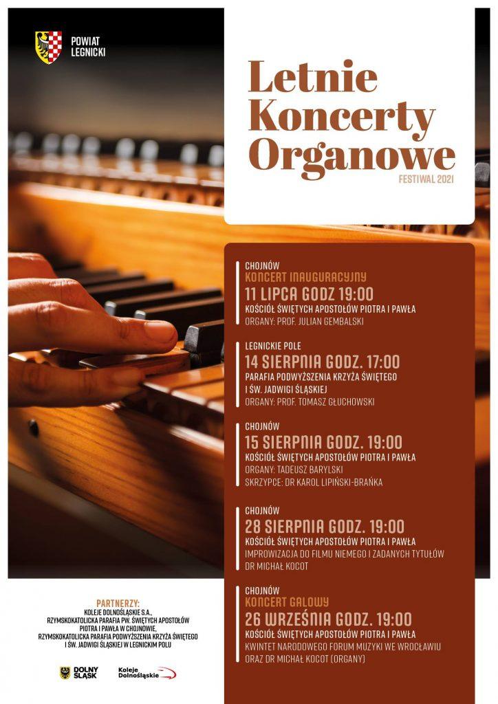 Letnie koncerty organowe - plakat