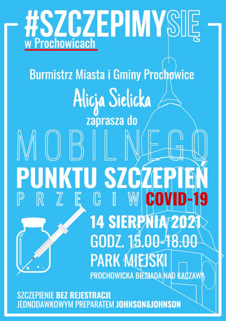 mobilny punkt szczepie - plakat