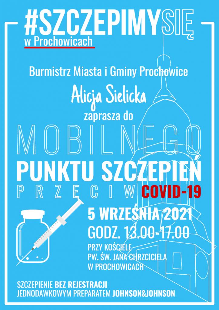 Mobilny punkt szczepień - plakat