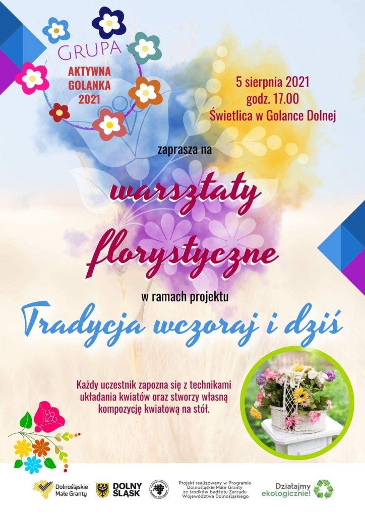 warsztaty florystyczne - plakat