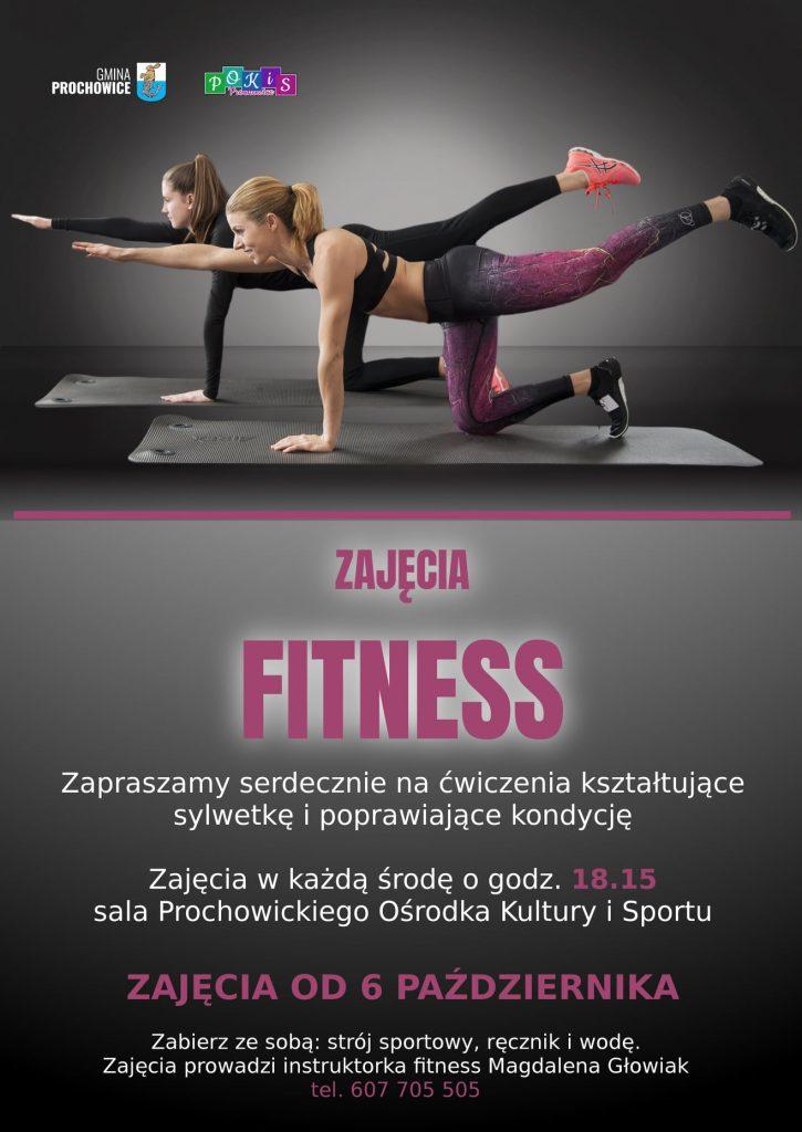 zajęcia fitness -plakat