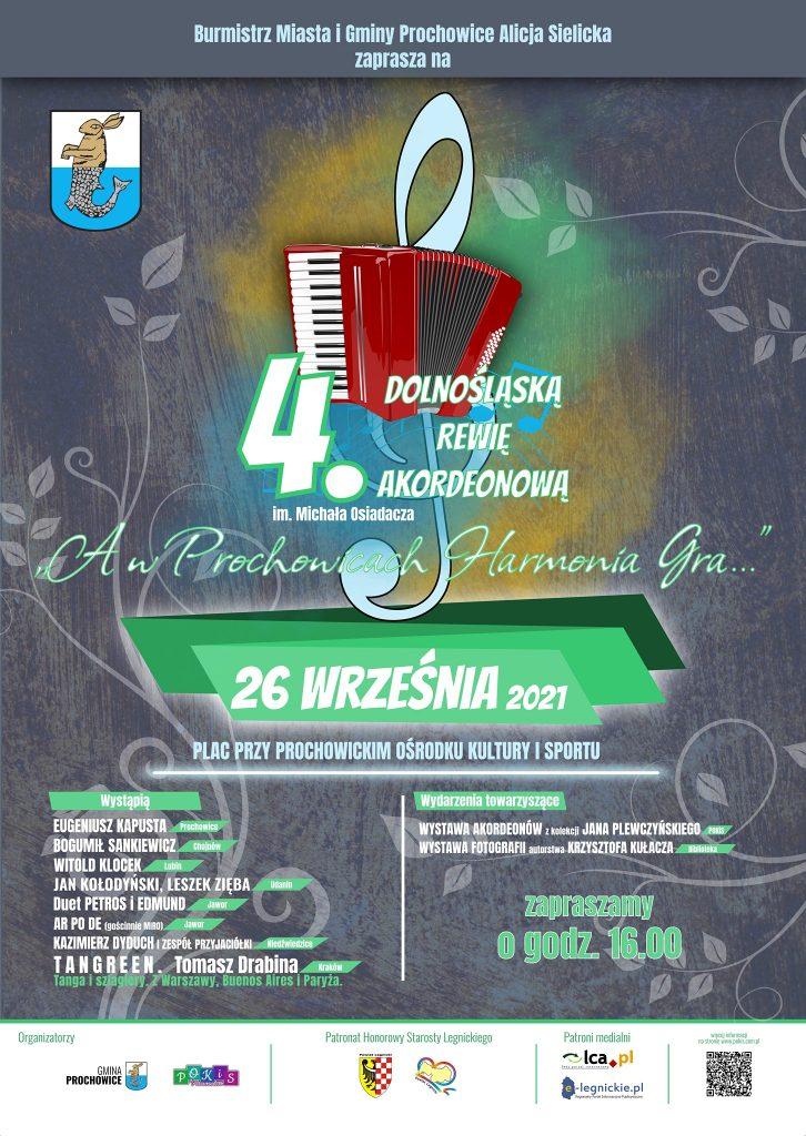 4. Dolnośląska Rewia Akordeonowa - plakat